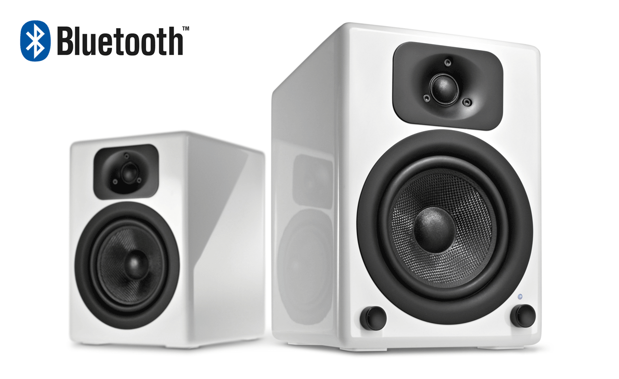 two bt white 2 0 bluetooth speaker system wavemaster a new definition of sound. Black Bedroom Furniture Sets. Home Design Ideas