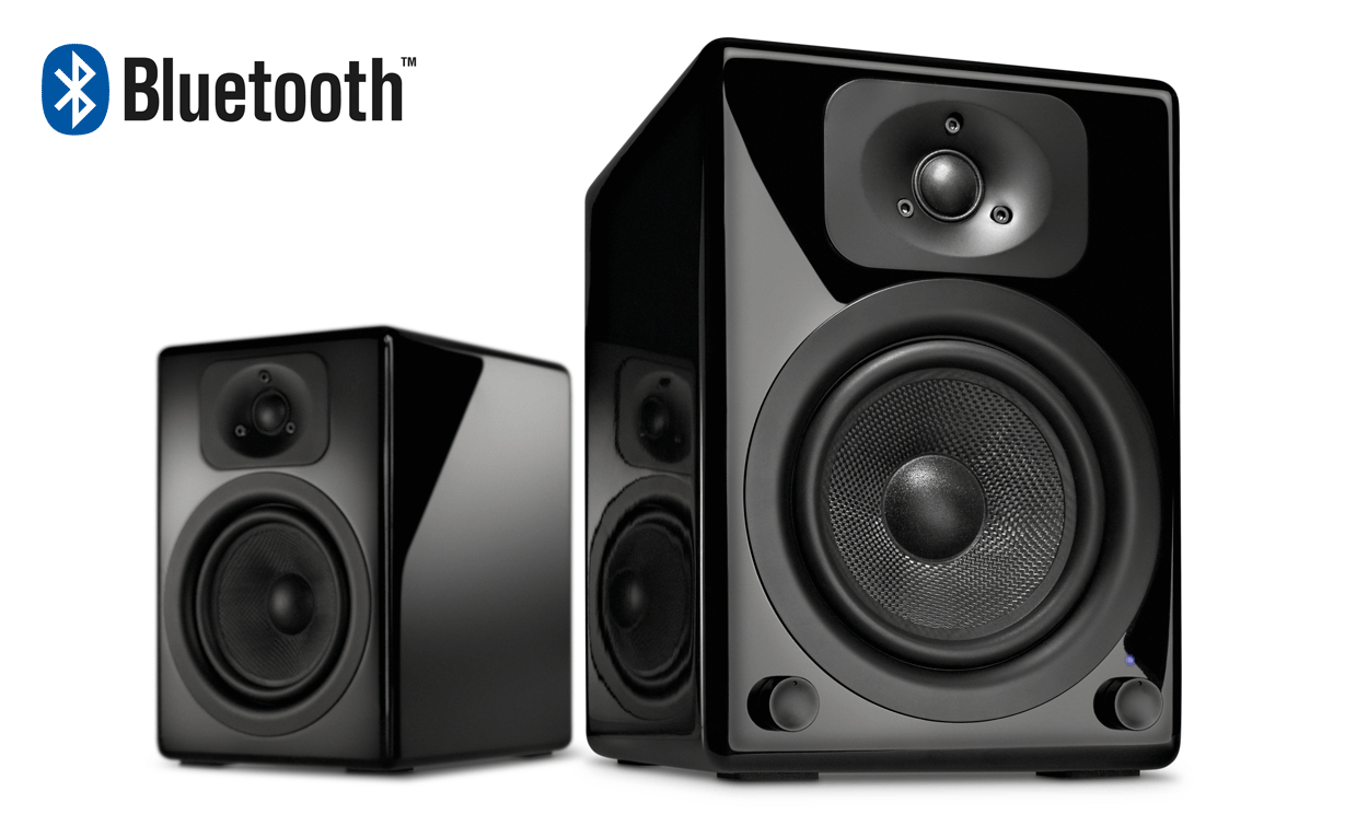 two bt black 2 0 bluetooth speaker system wavemaster a new definition of sound. Black Bedroom Furniture Sets. Home Design Ideas